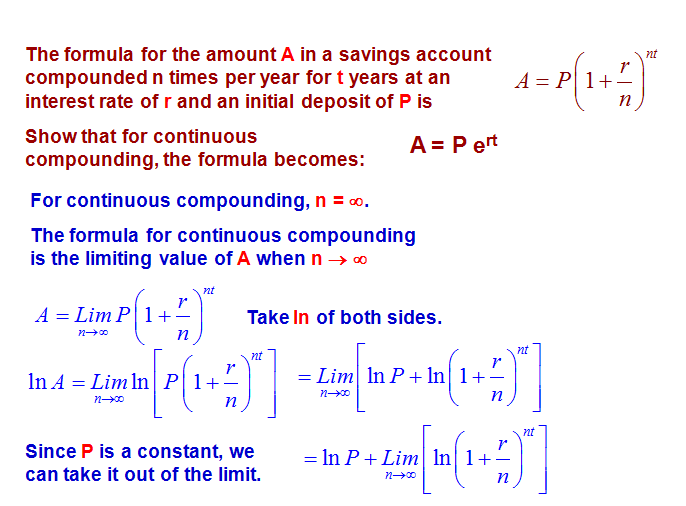 Pictures Of Continuous Compound Interest Formula Kidskunstfo